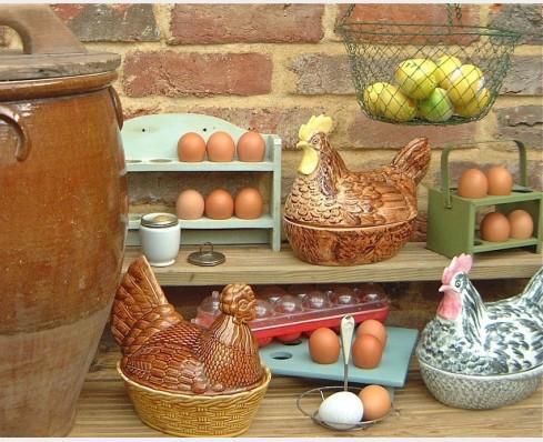 Egg racks & crocks